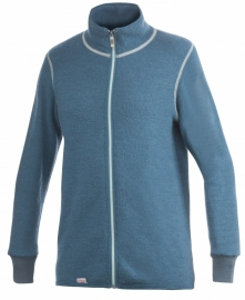 Woolpower Color Collection Full Zip Jacket 400 petrol - S-M-L-XL-XXL