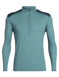 Icebreaker Mens Amplify LS Half Zip / Blue Spruce / Nightfall  -S-M-L-XL