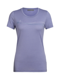 Icebreaker Wmns Tech Lite SS Low Crewe Cadence Paths / Orchid - M-XL