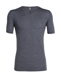 Icebreaker Mens Elements (Solace) SS V / Midnight Navy HTHR -XL-XXL