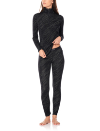 Icebreaker Wmns 250 Vertex LS Half Zip Snow / Black -Large