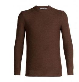 Icebreaker Mens Waypoint Crew Sweater / Bronze HTHR-Medium