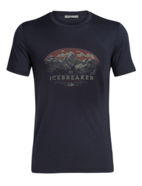 Icebreaker 	Mens Tech Lite SS Crewe K2 Crest / Midnight Navy -L-XXL