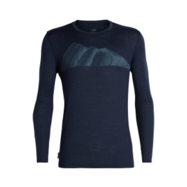 Icebreaker 	Mens Tech Lite LS Crewe Remarkables / Midnight Navy -M-XL