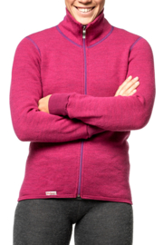 Woolpower Color Collection Full Zip Jacket 400 cerise - XS-M-L-XL-XXL
