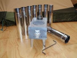 Telescopische kachelpijp RVS - los