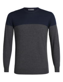 Icebreaker Men Shearer Crewe Sweater / Midnight Navy/Char Hthr - Medium