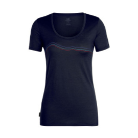 Icebreaker 	Wmns Tech Lite SS Scoop Rangitoto Triple / Midnight Navy -Medium