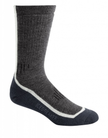 Icebreaker Socks Mountaineer Mid Calf Oil/Silver/Brazil (D) - 35-37