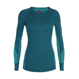 Icebreaker Wmns 260 Zone LS Crewe Kingfisher/ARCTIC TEAL/PRISM -Large