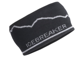 Icebreaker Unisex Headband Mt. Cook / Black/Gritstone Hthr - One Size