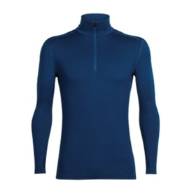 Icebreaker Mens Tech Top LS Half Zip Largo -Medium