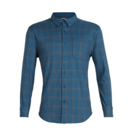 Icebreaker 	Mens Compass Flannel LS Shirt / Thunder/TIMBERWOLF/HYDRO PLAID- M-XL