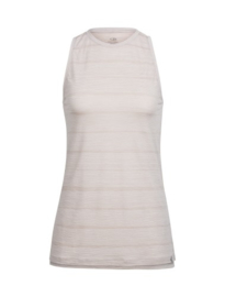 Icebreaker Wmns Aria Sleeveless Combed Lines / Pumice/Snow - Small