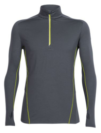 Icebreaker Mens Factor LS Half Zip Monsoon/Monsoon/Cactus -XXLarge