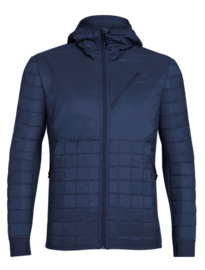 Icebreaker Mens Helix LS Zip Hood Midnight Navy -Large