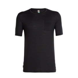 Icebreaker 	Mens Elements (Solace) SS Pocket Crewe / Black