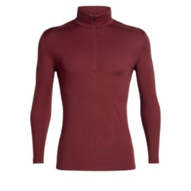 Icebreaker  Mens 260 Tech LS Half Zip / Cabernet -Medium