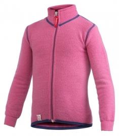 WOOLPOWER Kids Full Zip Jacket 400 - blauw - groen - rose