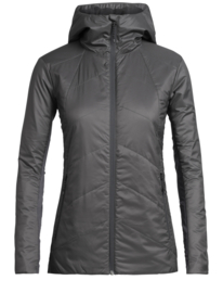 Icebreaker Wmns Helix LS Zip Hood / Monsoon -  Small