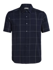 Icebreaker Mens Compass SS Shirt / Midnight Navy/Monsoon - L - XL