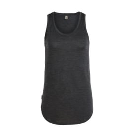 Icebreaker Wmns Solace Tank / Black HTHR -Large