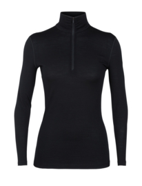 Icebreaker 	Wmns 200 Oasis LS Half Zip / Black - Medium