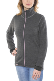 Woolpower Color Collection Full Zip Jacket 400 Grijs/Rose - XS-S-L-XL