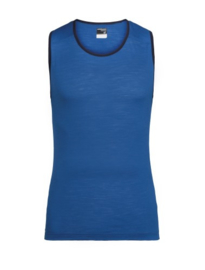 Icebreaker Mens Zeal Tank / SEA BLUE/Midnight Navy -Small
