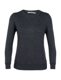 Icebreaker Wmns Muster Crewe Sweater / Char Hthr - Small