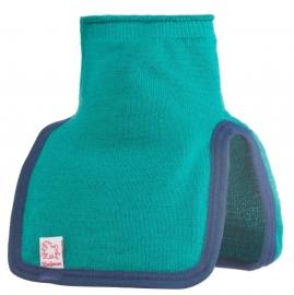 WOOLPOWER Kids Mock Turtle Neck - 200 - blauw-groen