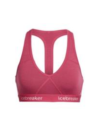 Icebreaker Wms Sprite Racerback Bra Wild Rose - XSmall