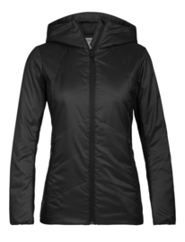 Icebreaker Wmns Helix LS Zip Hooded Jacket / Black - M-L-XL