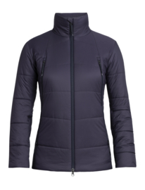 Icebreaker Womens Hyperia Zoned Jacket / Lotus/Midnight Navy - Small