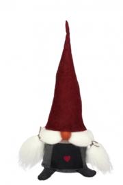 Aardvrouwtje Vera rode muts - 50 cm