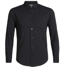 Icebreaker Mens Steveston LS Flannel Shirt/ Black -Medium