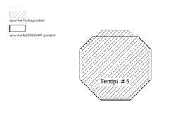 Bisonyl grondzeil voor Tentipi 5
