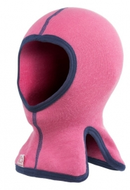 WOOLPOWER Balaclava for Kids - 200 - blauw - groen - rose