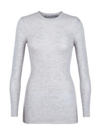 Icebreaker Wmn Valley Slim Crewe Sweater / Steel - Medium