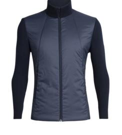 Icebreaker Mens Lumista Hybrid Sweater Jacket/Midnight Navy-Medium