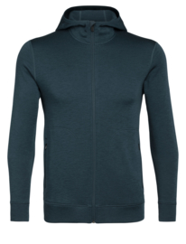 Icebreaker Men Elemental LS Zip Hood / Nightfall - S-L