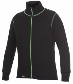 Woolpower Jacke (Full Zip Jacket) 400 - Schwarz/Grün