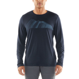 Icebreaker 	Mens Tech Lite LS Crewe Remarkables / Midnight Navy -Medium