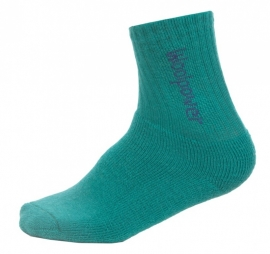 WOOLPOWER Kids sokken 400 - blauw-zwart- groen - rose