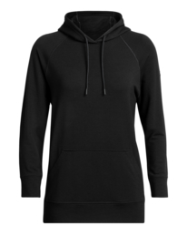 Icebreaker 	Wmns Momentum Hooded Pullover / Black- Small