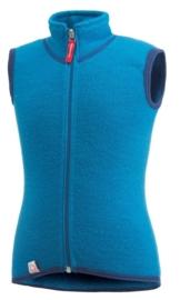 WOOLPOWER Kids Vest 400 - blauw - groen