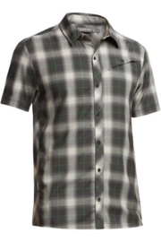 Icebreaker Mens Departure SS Shirt Plaid Monsoon -Small