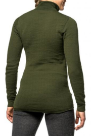 Woolpower Zip Turtleneck 400 - GROEN -XXS