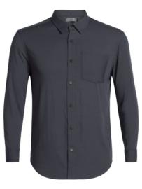 Icebreaker Mens Steveston LS Flannel Shirt/ Panther -Medium