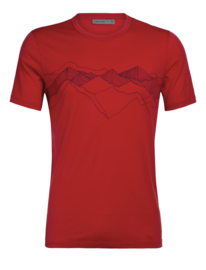 Icebreaker Mens Tech Lite SS Crewe Peak Patterns / Rocket - M-XL